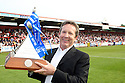 Stevenage Borough chairman Phil Wallace with the Championship trophy after the Blue Square Premier match between Stevenage Borough and York City at the Lamex Stadium, Broadhall Way, Stevenage on Saturday 24th April, 2010..© Kevin Coleman 2010 ..