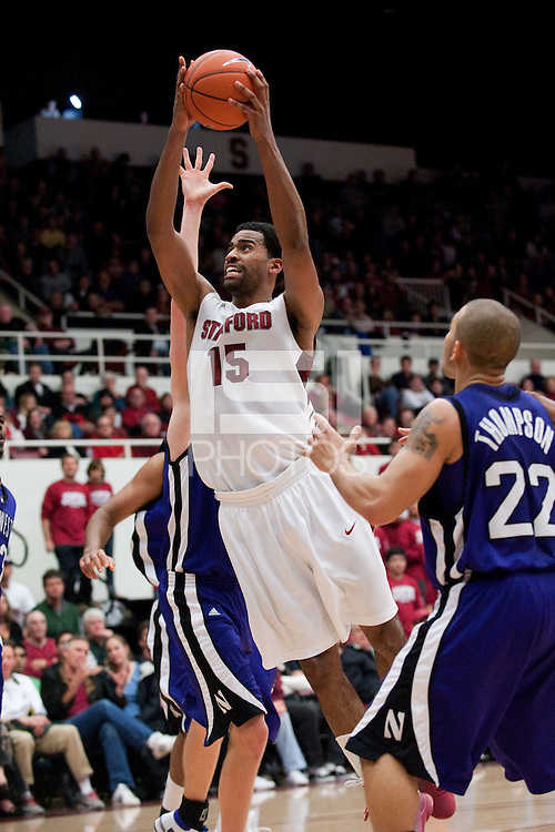 STANFORD, CA - DECEMBER 20:  Lawrence Hill of the Stanford Cardinal during Stanford's 65-59 win over the Northwestern Wildcats on December 20, 2008 at Maples Pavilion in Stanford, California.