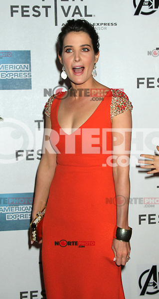 April 28, 2012 Cobie Smulders attends the Closing  Night of the 2012 Tribeca Film Festival with Marvel' the Avengers at BMCC Tribeca Pac in New York City..Credit:RWMediapunchinc.com