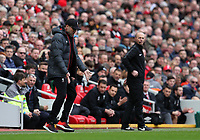 7th March 2020; Anfield, Liverpool, Merseyside, England; English Premier League Football, Liverpool versus AFC Bournemouth; Liverpool manager Jurgen Klopp shows his frustration after Liverpool concede the opening goal