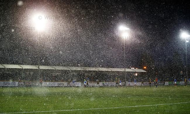 Winter football in Alloa. Fantastic.