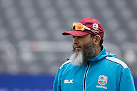 Mushtaq Ahmed , spin bowling coach for West Indies during West Indies vs New Zealand, ICC World Cup Warm-Up Match Cricket at the Bristol County Ground on 28th May 2019