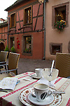 End of a coffee break in Riquewihr, Alsace, France,