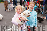 "Abbeyfeale Town Park Annual Dog Show was held last Sunday with dogs both large & small,all competing to win a rosette. Pictured here are First Cousins from Abbeyfeale Lacey Harnett & Amy Leahy with ""Abbie"" the dog."