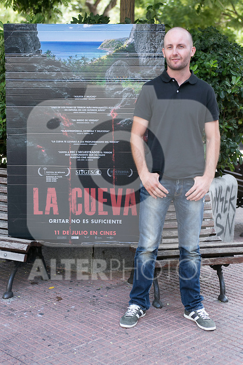 "Marcos Ortiz at the photocall of the presentation of the horror movie ""La Cueva"" (The Cave) in Madrid. Spain. Jul 08, 2014. (ALTERPHOTOS/Carlos Dafonte)"