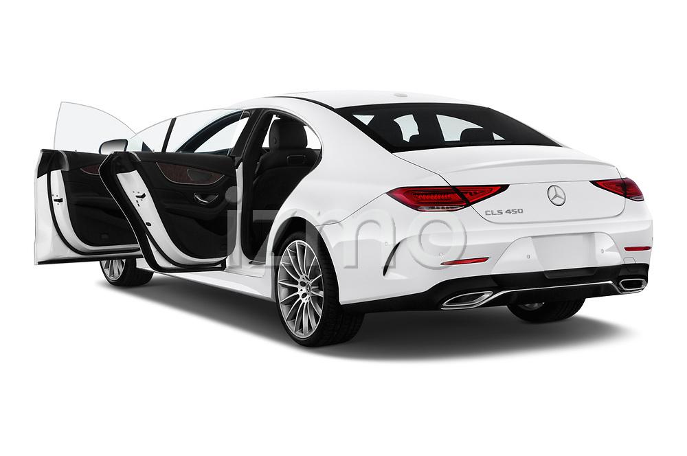 Car images close up view of a 2019 Mercedes Benz CLS-Coupe CLS450 4 Door Sedan doors