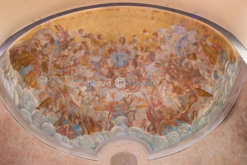 France, Ariège (09), Tarascon, chapelle Notre-Dame de Sabart, fresque du choeur // France, Ariège, Tarascon, chapel Notre-Dame de Sabart, frescoes in the Choir