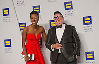 "Washington DC,September 10, 2016, USA:  Samira Wiley and Lea DeLaria, start of the TV Show, ""Orange is the New Black"" attend the  20th Annual Human Rights Campaign (HRC) dinner takes place in Washington DC. Speakers and entertainment includes, Senator Tim Kaine, D-VA, Congressman John Lewis, D-GA, Nyle DiMarco, first Deaf person to win America's Top Model(Cycle 22) and Dancing with the Stars (Season 22) Actor Billy Porter, singer Estelle and actor Samira Wiley.  Patsy Lynch/MediaPunch"