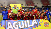BARRANQUILLA- COLOMBIA -15 -03-2015: Los jugadores de Uniautonoma posan para una foto durante partido entre Uniautonoma y Atletico Junior por la fecha 10 de la Liga Aguila I-2015, jugado en el estadio Metropolitano Roberto Melendez de la ciudad de Barranquilla. / The players of Uniautonoma pose for a photo during a match between Uniautonoma and Atletico Junior for the date 10 of the Liga Aguila I-2015 at the Metropolitano Roberto Melendez Stadium in Barranquilla city, Photo: VizzorImage. / Alfonso Cervantes / Str.