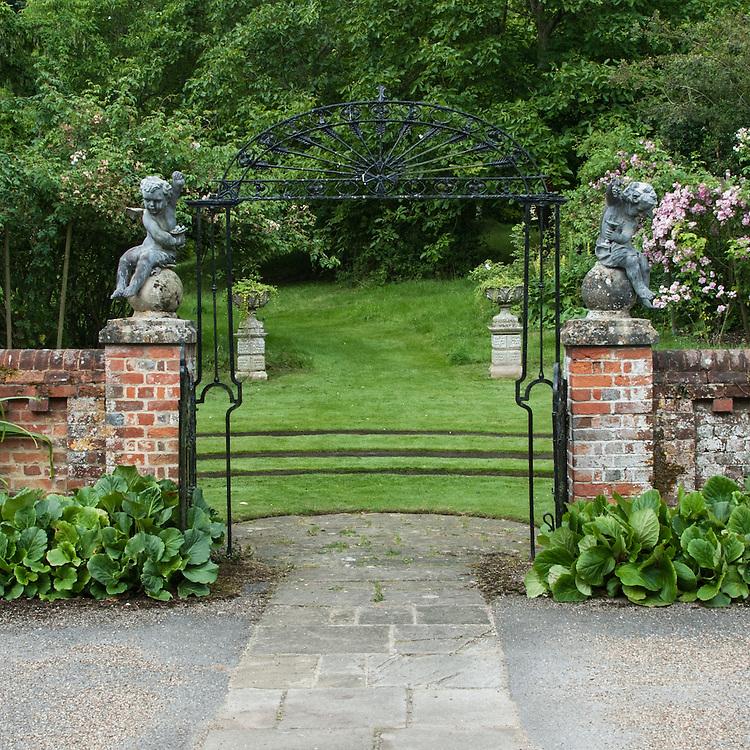Gates to Wild Garden, Upton Grey, mid July.