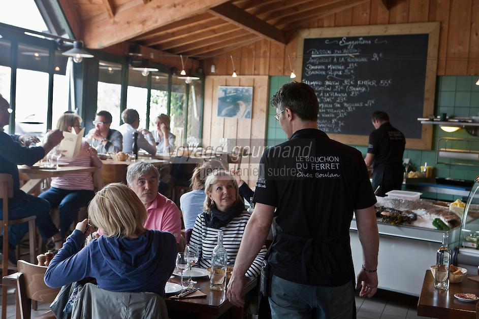 Europe/France/Aquitaine/33/Gironde/Bassin d'Arcachon/Le Cap Ferret: Restaurant: Le Bouchon du Ferret, [Non destiné à un usage publicitaire - Not intended for an advertising use]