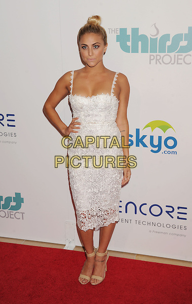 BEVERLY HILLS, CA- JUNE 24: Actress Cassie Scerbo attends the 5th Annual Thirst Gala hosted by Jennifer Garner in partnership with Skyo and Relativity's 'Earth To Echo' on June 24, 2014 at the Beverly Hilton Hotel in Beverly Hills, California.<br /> CAP/ROT<br /> &copy;Lee Roth/Capital Pictures