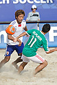 (L-R) Masahito Toma (JPN), Morgan Plata (MEX), SEPTEMBER 02, 2011 - Beach Soccer : FIFA Beach Soccer World Cup Ravenna-Italy 2011 Group D match between Japan 2-3 Mexico at Stadio del Mare, Marina di Ravenna, Italy, (Photo by Enrico Calderoni/AFLO SPORT) [0391]