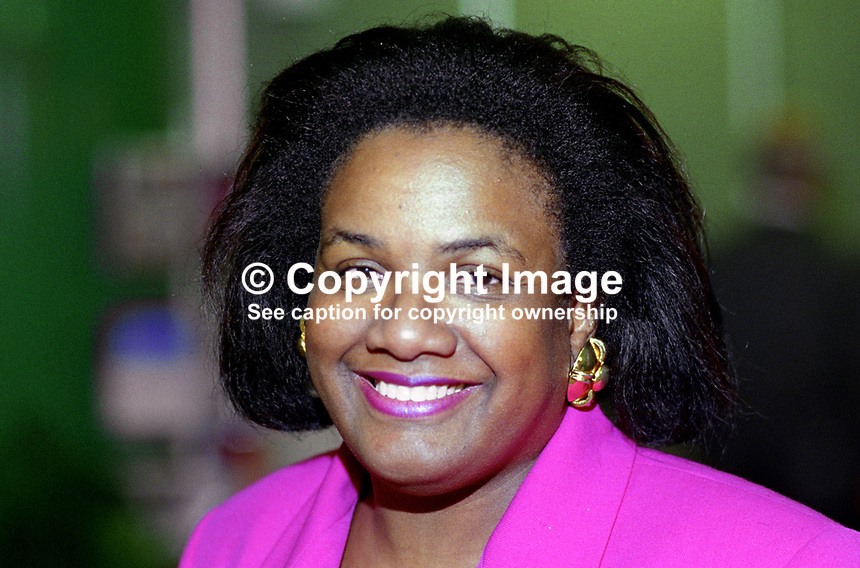 Diane Abbott, MP, Labour Party, UK, 199609002.<br />
