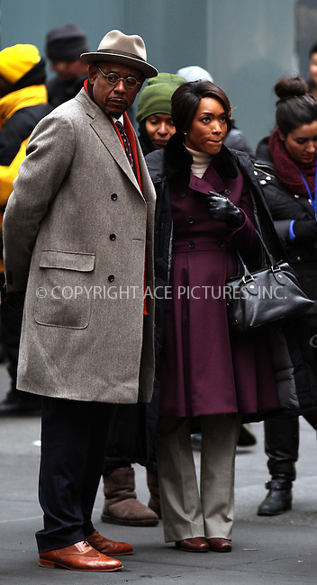 WWW.ACEPIXS.COM....February 5 2013, New York City....Forest Whitaker and Angela Bassett on the set of the new movie 'Black Nativity' on February 5 2013 in New York City....By Line: Zelig Shaul/ACE Pictures......ACE Pictures, Inc...tel: 646 769 0430..Email: info@acepixs.com..www.acepixs.com
