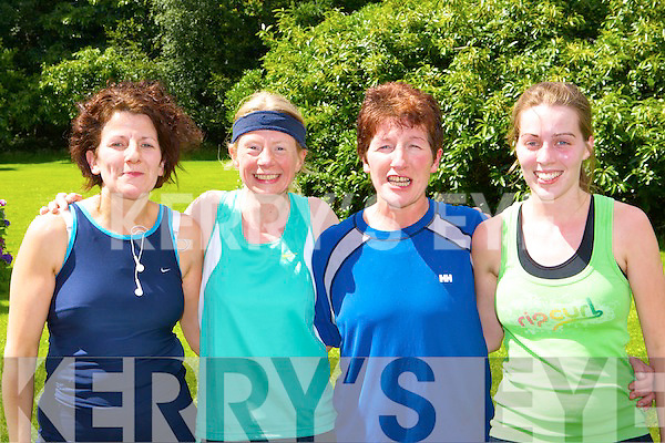 Margaret O'Leary Gneeveguilla AC, Tina Reed An Riocht, Sheila Kerley An Riocht and Claire Kelleher Gneeveguilla AC sharing a laugh at the Killarney Summerfest 5km in Killarney National Park on Saturday    Copyright Kerry's Eye 2008