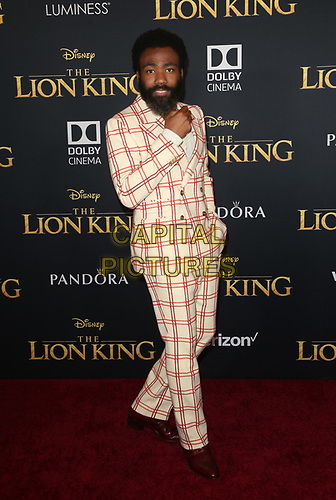 HOLLYWOOD, CA - JULY 9: Donald Glover at The Lion King Film Premiere at El Capitan Theatre in Hollywood, California on July 9, 2019. <br /> CAP/MPIFS<br /> ©MPIFS/Capital Pictures