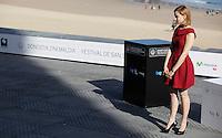 Actress Sarah Gadon posses during the 61 San Sebastian Film Festival, in San Sebastian, Spain. September 21, 2013. (ALTERPHOTOS/Victor Blanco) /NortePhoto