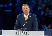 Governor John Kasich (Republican of Ohio), a candidate for the Republican Party nomination for President of the United States, speaks at the 2016 AIPAC Policy Conference at the Verizon Center in Washington, DC on Monday March 21, 2016.<br /> Credit: Ron Sachs / CNP