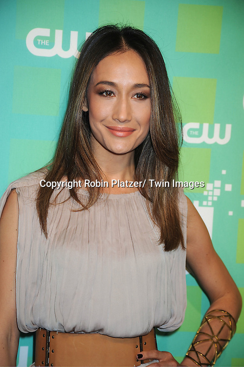 "Maggie Q from "" Nikita"" attends The CW Network's 2012 Upfront Presentation on May 17, 2012 at New York City Center in New York."