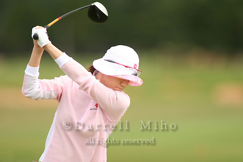 February 17, 2006; Kahuku, HI - Young Kim tees off during round 2 of the LPGA SBS Open at Turtle Bay Resort...Mandatory photo credit: Darrell Miho.© Darrell Miho