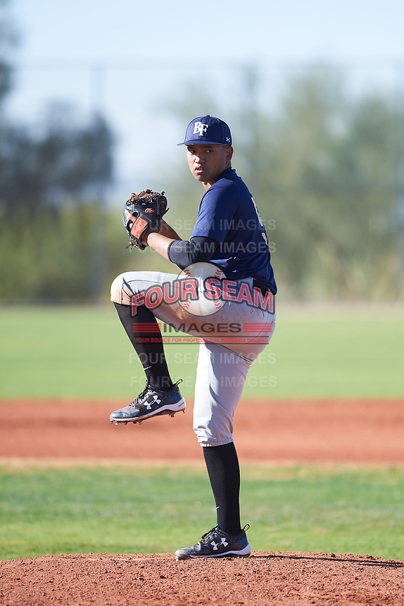 Kristian Cardejon (51), from Kekaha, Hawaii, while playing for the Padres during the Under Armour Baseball Factory Recruiting Classic at Red Mountain Baseball Complex on December 29, 2017 in Mesa, Arizona. (Zachary Lucy/Four Seam Images)