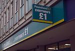 Poundland £1 discount shop sign, Ipswich