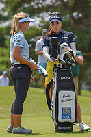 Brooke M. Henderson (CAN) and So Yeon Ryu (KOR) chat on as they wait to tee off on 3 during round 3 of the 2018 KPMG Women's PGA Championship, Kemper Lakes Golf Club, at Kildeer, Illinois, USA. 6/30/2018.<br /> Picture: Golffile | Ken Murray<br /> <br /> All photo usage must carry mandatory copyright credit (&copy; Golffile | Ken Murray)