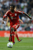25.04.2012 SPAIN -  UEFA Champions League Semi-Final 2nd leg  match played between Real Madrid CF vs  FC Bayern Munchen 2 (1) - 1 (3) at Santiago Bernabeu stadium. The picture show David Alaba  (Midfielders Bayern Munchen)