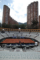 BOGOTA - COLOMBIA – 14 – 09 -2019: Plaza de Toros La Santamaria, adecuada para los partidos de la Copa Davis partidos de ascenso al Grupo Mundial de Copa Davis por BNP Paribas, en la Plaza de Toros La Santamaria en la ciudad de Bogota.  / la Santamaria Ring Bull, adequacy for the matches promoted to the World Group Davis Cup by BNP Pariba, at the La Santamaria Ring Bull in Bogota city. / Photo: VizzorImage / Luis Ramirez / Staff.