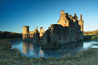 Caerlaverock Castle at dawn, Dumfries & Galloway<br /> <br /> Copyright www.scottishhorizons.co.uk/Keith Fergus 2011 All Rights Reserved