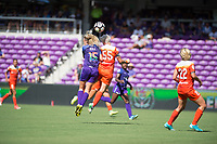 Orlando, FL - Saturday June 24, 2017: Rachel Hill, Janine van Wyk during a regular season National Women's Soccer League (NWSL) match between the Orlando Pride and the Houston Dash at Orlando City Stadium.
