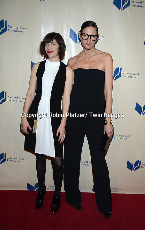 Carrie Brownstein and Jenna Lyons attend the 2013 National Book Awards Dinner and Ceremony on November 20, 2013 at Cipriani Wall Street in New York City.