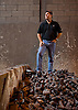 Chairman Jim Kirsh stands on a pile of scrap metal at Kirsh Foundry, Inc., in Beaver Dam, Wisconsin. Photo by Kevin J. Miyazaki/Redux