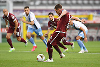 Andrea Belotti of Torino FC  scores on penalty the goal of 1-0 during the Serie A football match between Torino FC and SS Lazio at stadio Olimpico in Turin ( Italy ), June 30th, 2020. Play resumes behind closed doors following the outbreak of the coronavirus disease. <br /> Photo Image Sport / Insidefoto