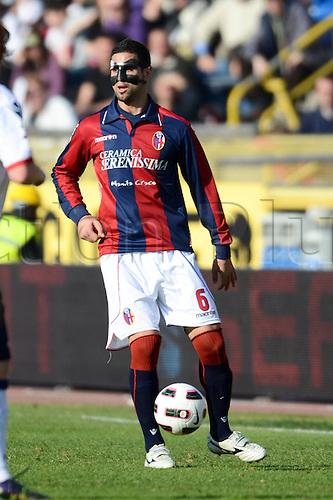 Miguel Angel Britos (Bologna), MARCH 6, 2011 - Football : Italian  Series A  match between Bologna 2-2 Cagliari at Renato Dall'Ara Stadium in Bologna, Italy.