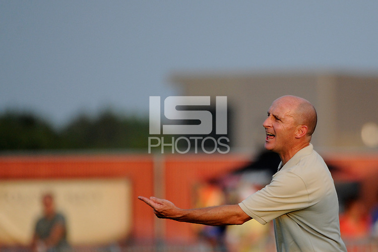 Philadelphia Independence head coach Paul Riley. Sky Blue FC defeated the Philadelphia Independence 2-0 during a Women's Professional Soccer (WPS) match at Yurcak Field in Piscataway, NJ, on July 23, 2011.