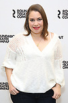 "Vanessa Aspillaga attends the Meet & Greet for the cast of ""Amy and the Orphans"" at the Roundabout Theatre rehearsal hall on January 10, 2018 in New York City."