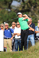 Peter Lawrie (IRL) on the 18th tee during Round 2 of the KLM Open at Kennemer Golf &amp; Country Club on Friday 12th September 2014.<br /> Picture:  Thos Caffrey / www.golffile