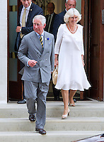 Prince Charles, Camilla & Kate's parents visit Kate, William and the baby at the hospital - London