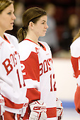 Cristina Wiley (BU - 12) - The Boston University Terriers defeated the Providence College Friars 5-3 on Saturday, November 14, 2009, at Agganis Arena in Boston, Massachusetts.