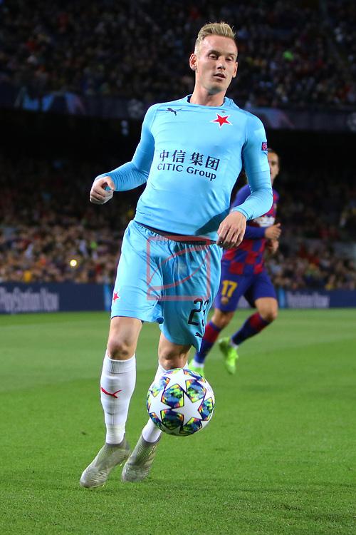 UEFA Champions League 2019/2020.<br /> Matchday 4.<br /> FC Barcelona vs SK Slavia Praha: 0-0.<br /> Petr Sevcik.