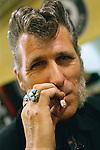 Rocker Graham takes a drag on his cigarette.<br /> <br /> &copy;&nbsp;Hazel Thompson