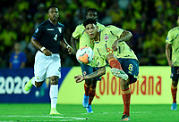ARMENIA – COLOMBIA, 19-01-2020:Jorge Carrascal de Colombia  durante partido entre Colombia y Ecuador por la fecha 2, grupo A, del CONMEBOL Preolímpico Colombia 2020 jugado en el estadio Centenario de Armenia, Colombia. /  Jorge Carrascal of Colombia   during the match between Colombia and Ecuador for the date 2, group A, for the CONMEBOL Pre-Olympic Tournament Colombia 2020 played at Centenario stadium in Armenia, Colombia Colombia y Ecuador en partido de la fecha 2, grupo A, del CONMEBOL Preolímpico Colombia 2020 jugado en el estadio Centenario de Armenia, Colombia. / Colombia and Ecuador in match of the date 2, group A, for the CONMEBOL Pre-Olympic Tournament Colombia 2020 played at Centenario stadium in Armenia, Colombia. Photos: VizzorImage / Julian Medina / Cont