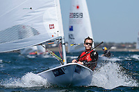 Laser/ Robert DAVIS (CAN) <br /> ISAF Sailing World Cup Final - Melbourne<br /> St Kilda sailing precinct, Victoria<br /> Port Phillip Bay Wednesday 7 Dec 2016<br /> &copy; Sport the library / Jeff Crow