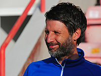 Lincoln City manager Danny Cowley during the pre-match warm-up<br /> <br /> Photographer Andrew Vaughan/CameraSport<br /> <br /> The EFL Sky Bet League Two Play Off Second Leg - Exeter City v Lincoln City - Thursday 17th May 2018 - St James Park - Exeter<br /> <br /> World Copyright &copy; 2018 CameraSport. All rights reserved. 43 Linden Ave. Countesthorpe. Leicester. England. LE8 5PG - Tel: +44 (0) 116 277 4147 - admin@camerasport.com - www.camerasport.com