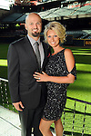 Scott and Meghan Moore at the Astros Wives' Gala at Minute Maid Park Thursday Aug. 16, 2012.(Dave Rossman/For the Chronicle)