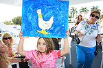 Susan Haskell's daughter Marlowe with painting at SoapFest's Celebrity Weekend - Cruisin' and Schmoozin' on the Marco Island Princess - mix and mingle and watching dolphins - autographs, photos, live auction raising money for kids on November 11, 2012 Marco Island, Florida. (Photo by Sue Coflin/Max Photos)