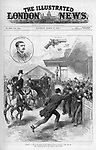 Attempt to assassinate Queen Victoria (1819-1901) by Roderick Maclean at Windsor Railway Station     Date: 2 March 1882     Source: The Illustrated London News 11 March 1892