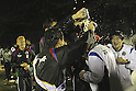 Kashiwa Reysol team group, DECEMBER 3, 2011 - Football / Soccer : Kashiwa Reysol players pour beer over head coach Nelsinho as they celebrate their J1 championship title during the triumphal celebration at Hitachi Kashiwa Soccer Stadium in Chiba, Japan. (Photo by Kenzaburo Matsuoka/AFLO)